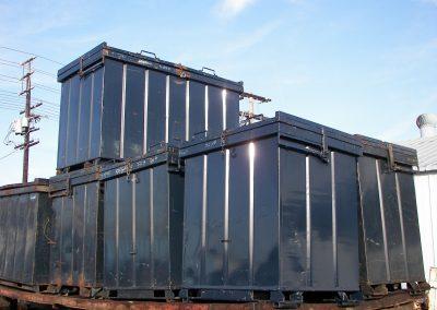 metal scrap yard containers
